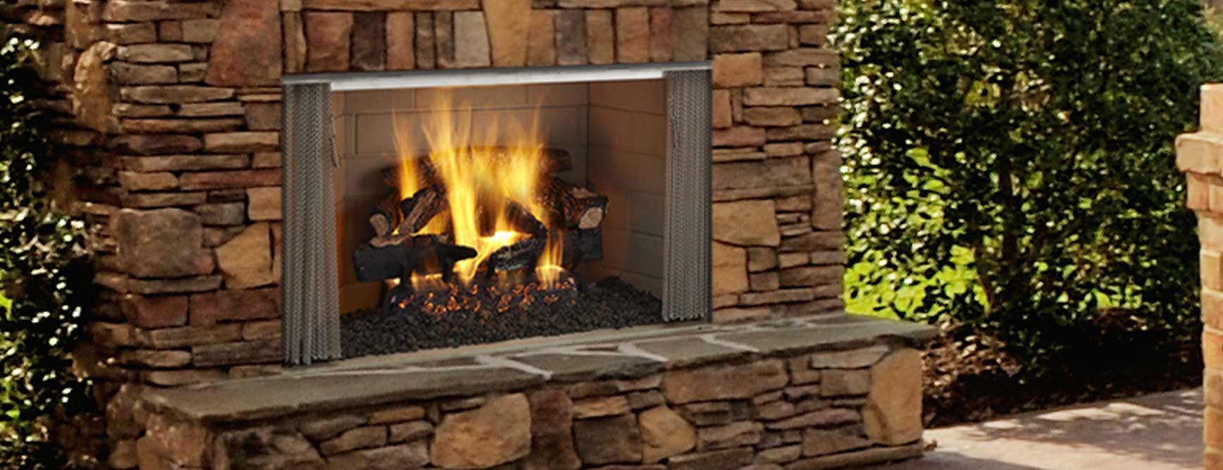 Outdoor fireplaces holiday enjoyment louisville ky for Firerock fireplaces