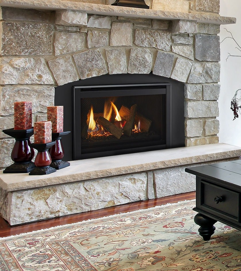 Majestic gas fireplace
